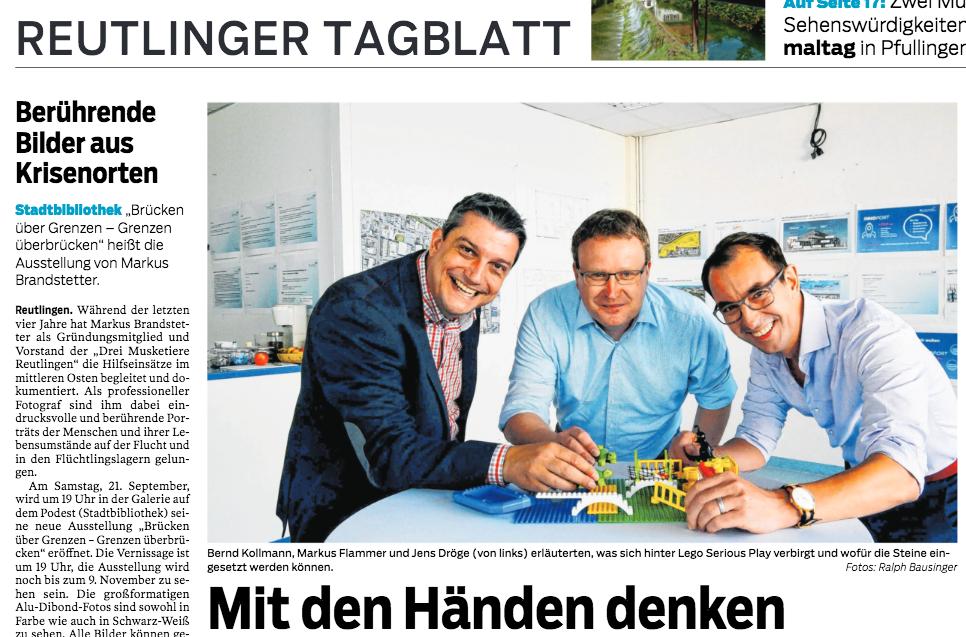 Jens Dröge und SERIOUS RESULTS mit LEGO SERIOUS PLAY in der Südwestpresse SWP
