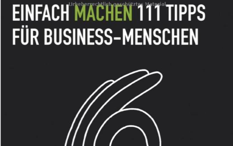 Jens Dröge in Einfach Machen 111 Tipps für Business Menschen
