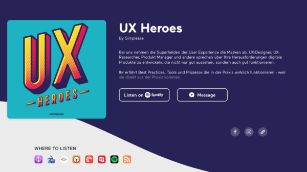Podcast mit Jens und den UX Heroes & Simplease